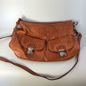 Coach crossbody peach/tan color